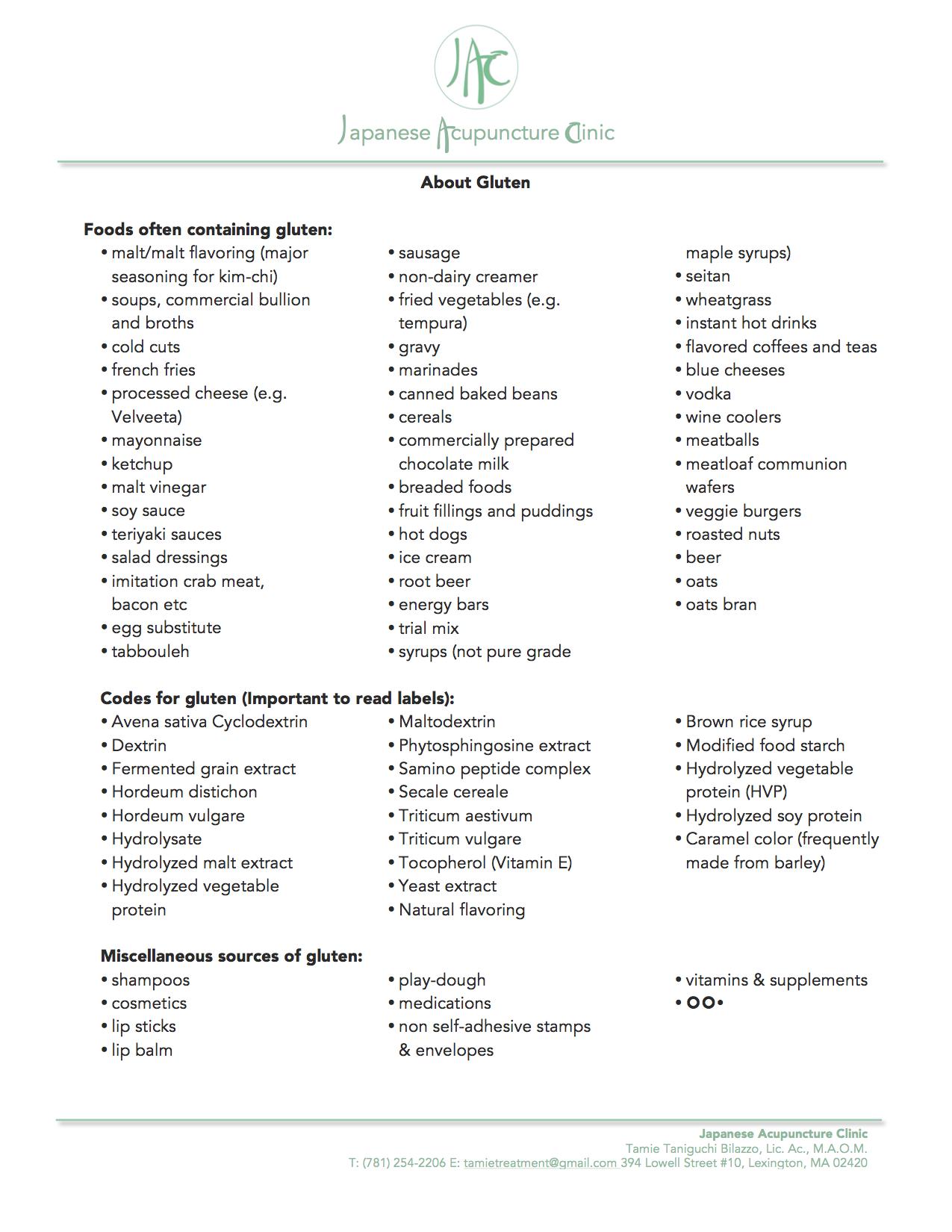 Gluten Sensitivity & Celiac Disease - Japanese Acupuncture